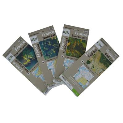 Lot de 4 cartes OACI